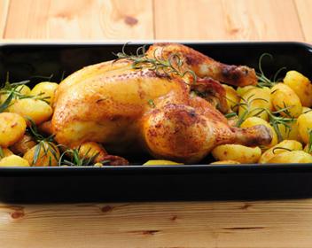 курица с картофелем в духовке целиком рецепт с фото