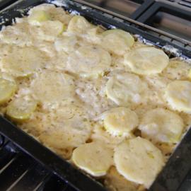 Как приготовить картошку с кабачком в духовке